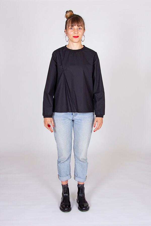 I AM Patterns Patron Couture Blouse Clochette Noir Devant