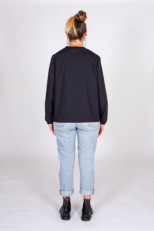 I AM Patterns Patron Couture Blouse Clochette Noir Dos