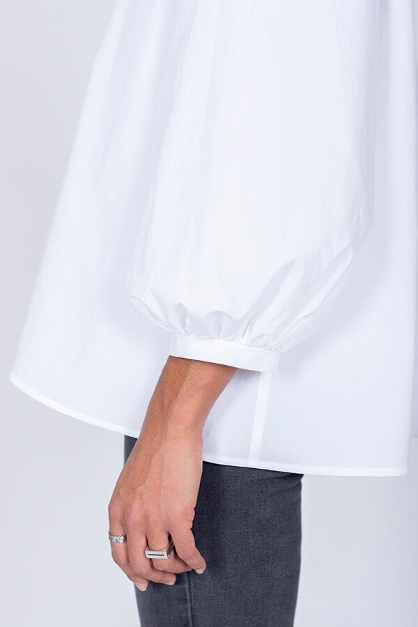 I AM Patterns Patron Couture Irma Chemise Blanche Détail Manche