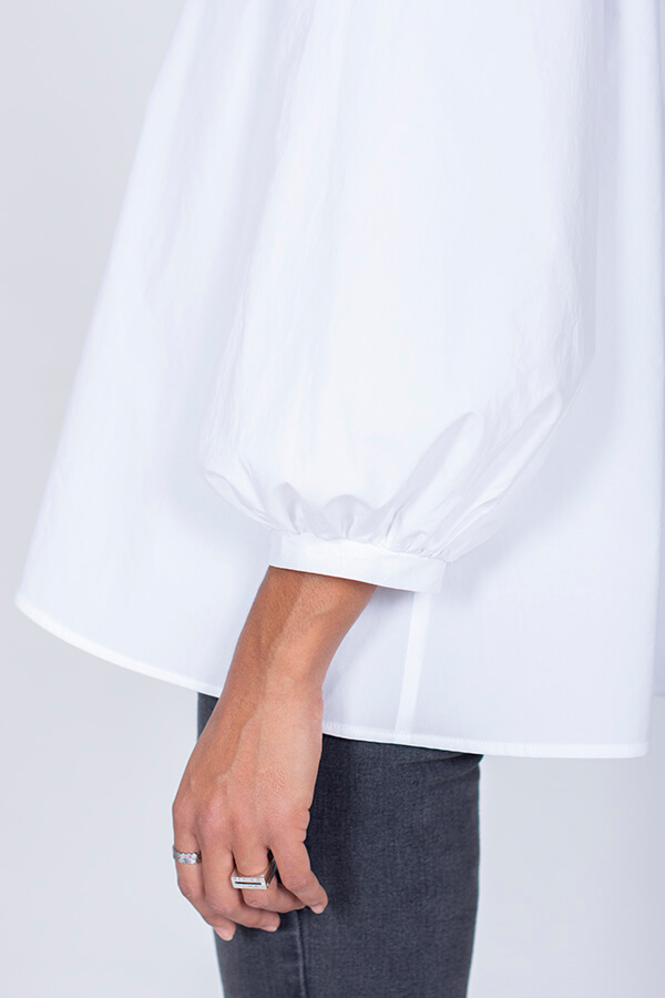I AM Patterns Ladies Sewing Pattern Irma Shirt White Back Sleeve Detail 2