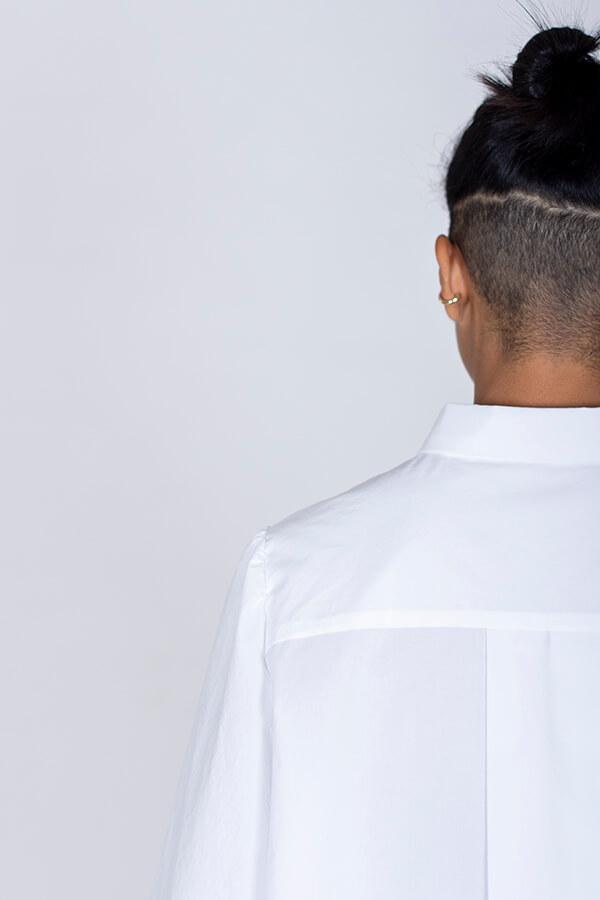 I AM Patterns Patron Couture Irma Chemise Blanche Détail Col