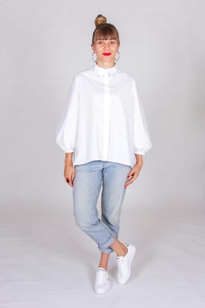 I AM Patterns Patron Couture Irma Chemise Blanche Devant