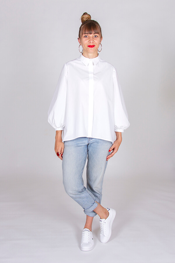 I AM Patterns Ladies Sewing Pattern Irma Shirt White Front