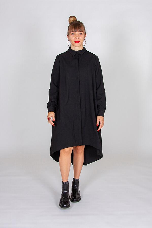 I AM Patterns Ladies Sewing Pattern Irma Shirt-Dress Front Walk