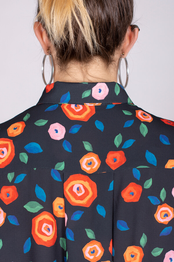 I AM Patterns Ladies Sewing Pattern Irma Shirt-Dress Atelier 27 Fabric Detail 2