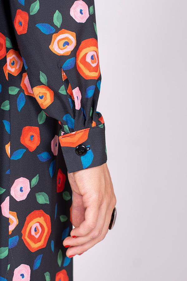 I AM Patterns Ladies Sewing Pattern Irma Shirt-Dress Atelier 27 Fabric Detail 3