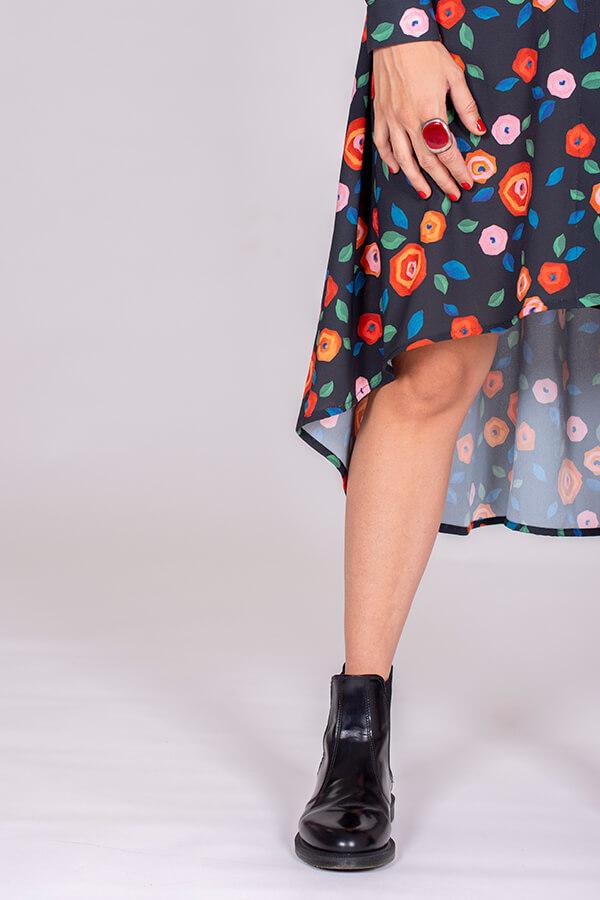 I AM Patterns Ladies Sewing Pattern Irma Shirt-Dress Atelier 27 Fabric Detail 5