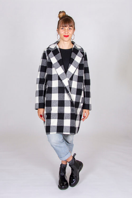 I AM Patterns ladies Sewing Pattern Merlin Fully Lined Coat Front