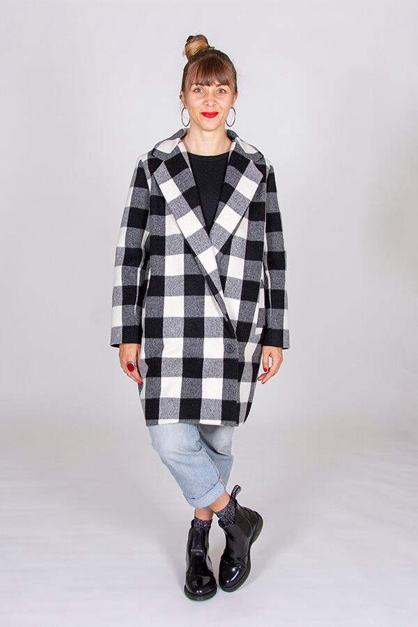 I AM Patterns Patron Couture Merlin Manteau Double Devant