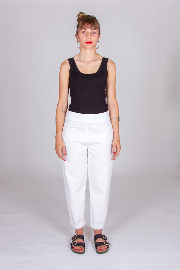 I AM Patterns Patron Couture Panoramix Pantalon blanc devant
