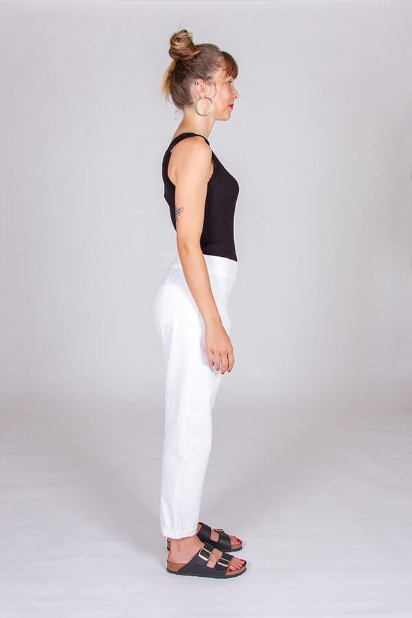 I AM Patterns Patron Couture Panoramix Pantalon blanc profil