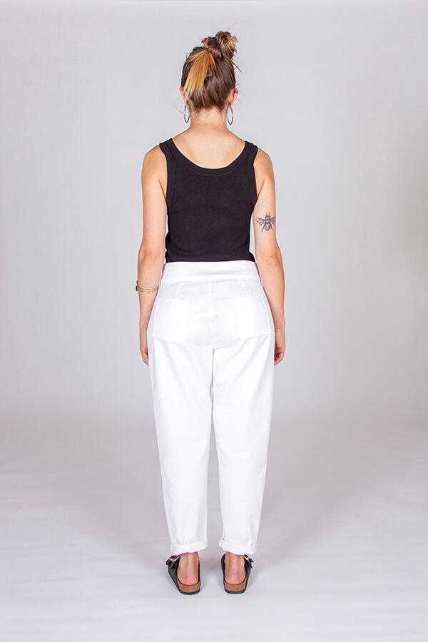 I AM Patterns Patron Couture Panoramix Pantalon blanc dos