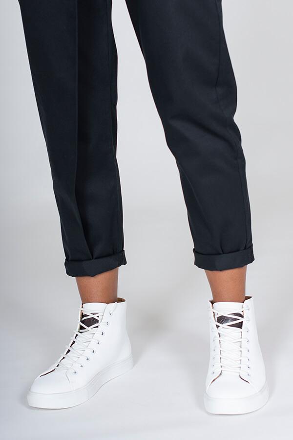 I AM Patterns Patron Couture Panoramix Pantalon noir à plis @la_meuf_qui_coud détail chevilles