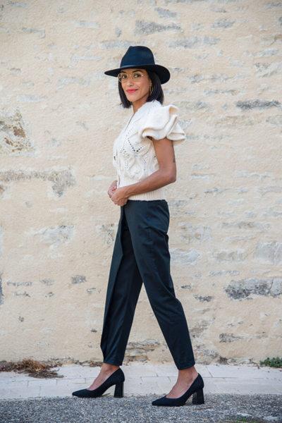 I AM Patterns Patron Couture Panoramix Pantalon noir à plis @la_meuf_qui_coud