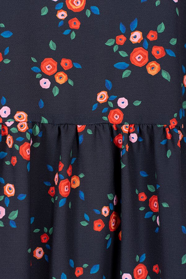 I AM Patterns Patron Robe Cassiopee Atelier 27 Detail tissu fronces
