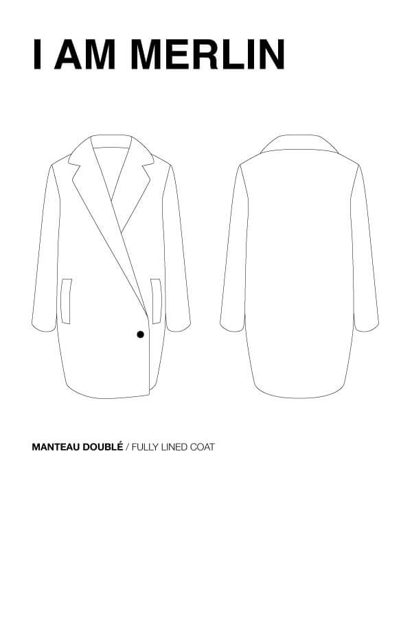 I AM Patterns Patron Couture Femme Manteau Double Merlin