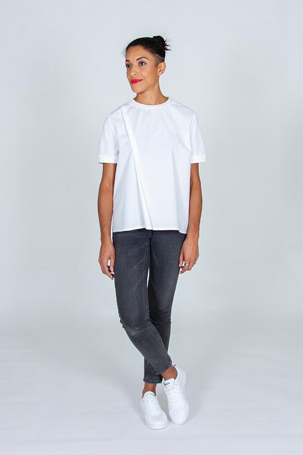 I AM Patterns Patron Couture Blouse Clochette Blanc Devant