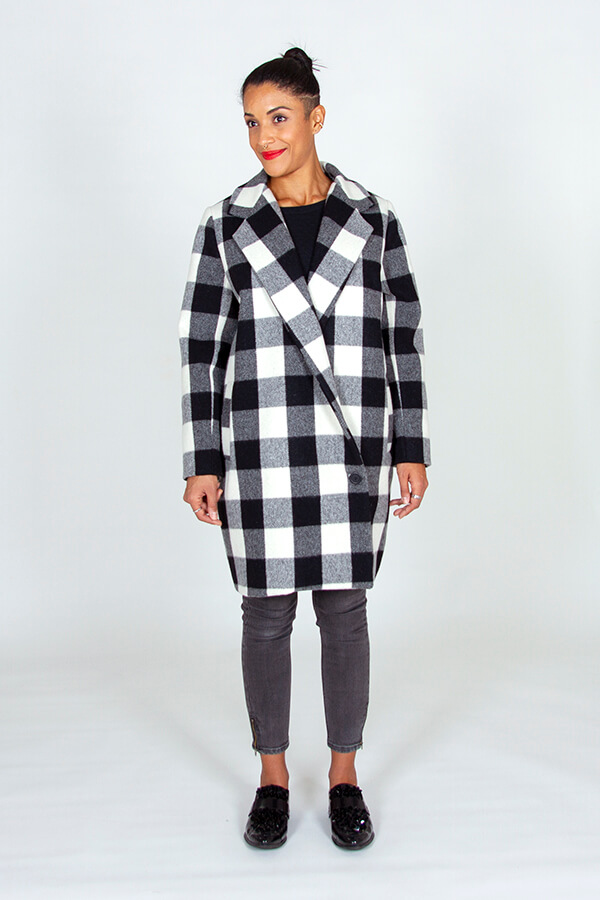 I AM Patterns ladies Sewing Pattern Merlin Fully Lined Coat Front 4
