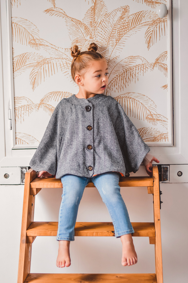 I AM Patterns Sewing Pattern Children Cape With Pockets Harry Mini Front @peppatii