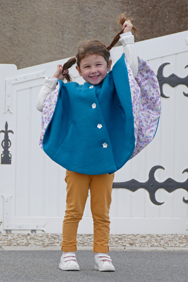 I AM Patterns Sewing Pattern Children Cape With Pockets Harry Mini