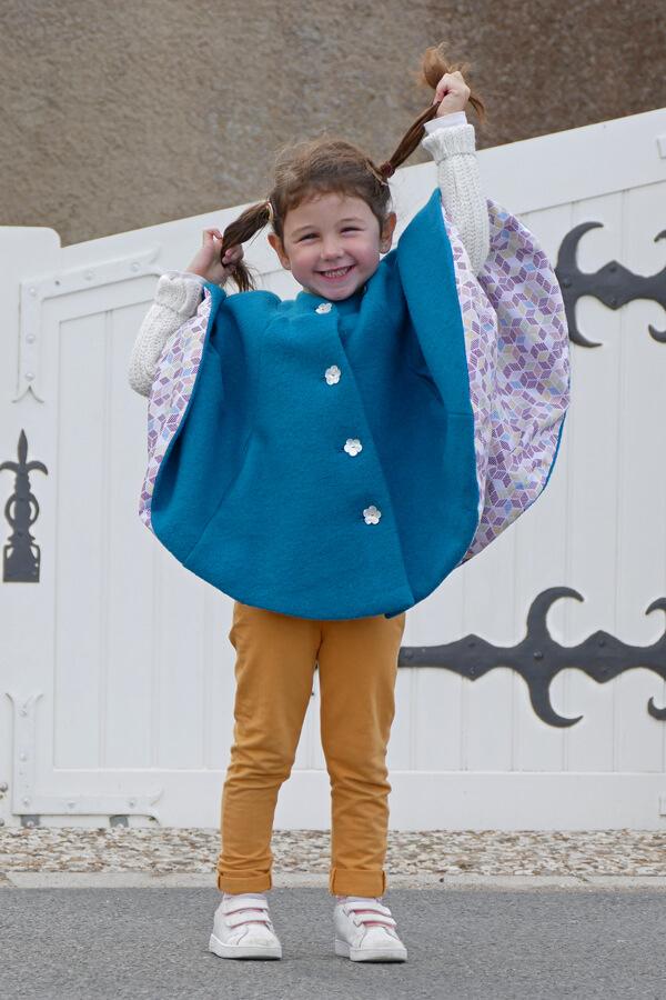 I AM Patterns Patron Couture Enfant Harry Mini Cape Poches