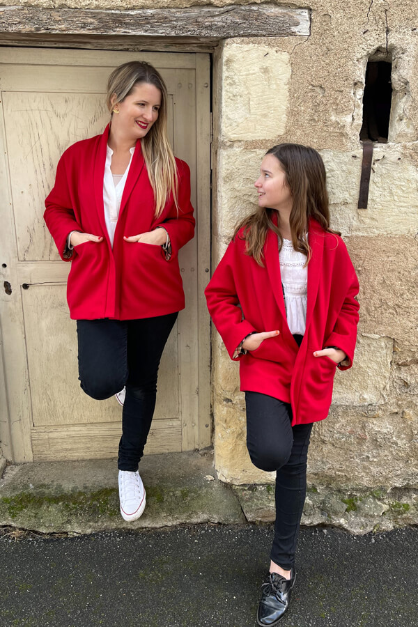 I AM Patterns Artemis Manteau Duo Mere Enfant @ledressingdecindy