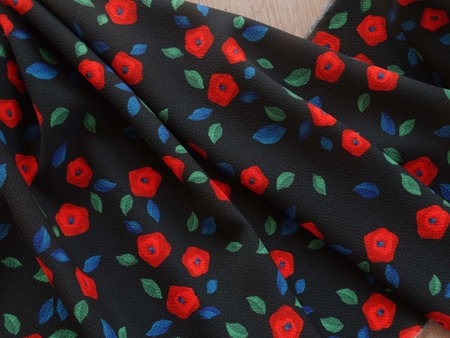 I AM Patterns Eastern Wonders Fabric Collaboration Atelier 27 Crepe Magie