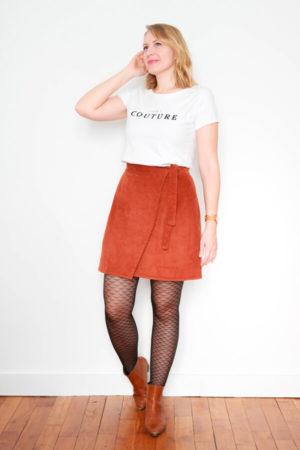 I AM Patterns Sewing Pattern Asymmetrical Wrap Skirt Julie @ateliersvila