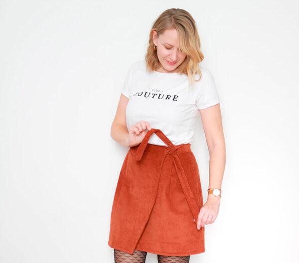 I AM Patterns Patron Couture Jupe Julie @ateliersvila Portefeuille Camel
