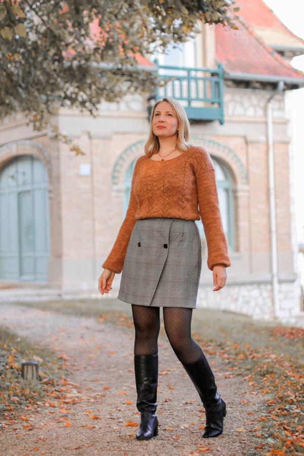 I AM Patterns Patron Couture Jupe Julie @ateliersvila Portefeuille Prince de Galles