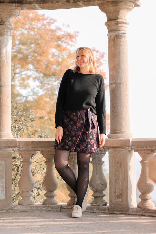 I AM Patterns Patron Couture Jupe Julie @ateliersvila Portefeuille Jacquard Atelier27 Rose