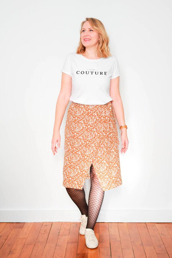 I AM Patterns Patron Couture Jupe Julie @ateliersvila Portefeuille Tissu Fleuri