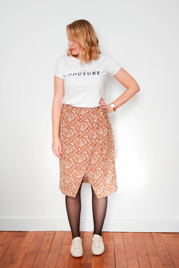 I AM Patterns Sewing Pattern Asymmetrical Wrap Skirt Julie @ateliersvila Long tie-waist