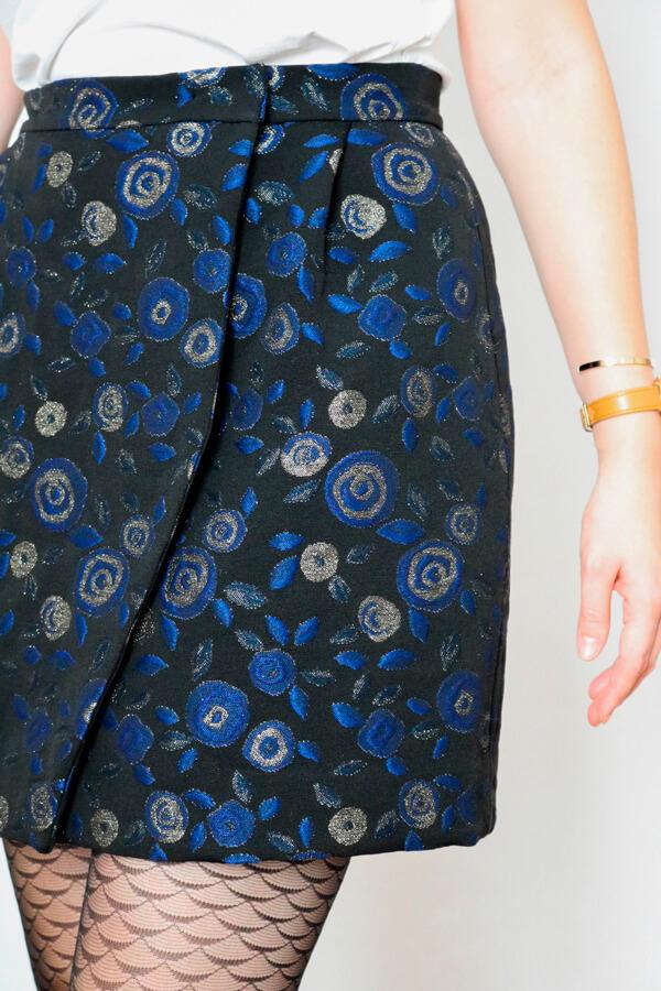 I AM Patterns Eastern Wonders Fabric Collaboration Atelier 27 Julie Skirt Jacquard