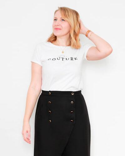 I AM Patterns Patron Couture Jupe Julie @ateliersvila Portefeuille Noir