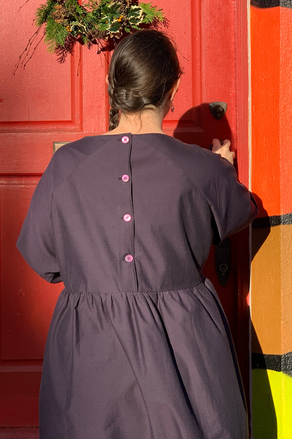 I AM Patterns Cassiopee Dress Button Placket Back