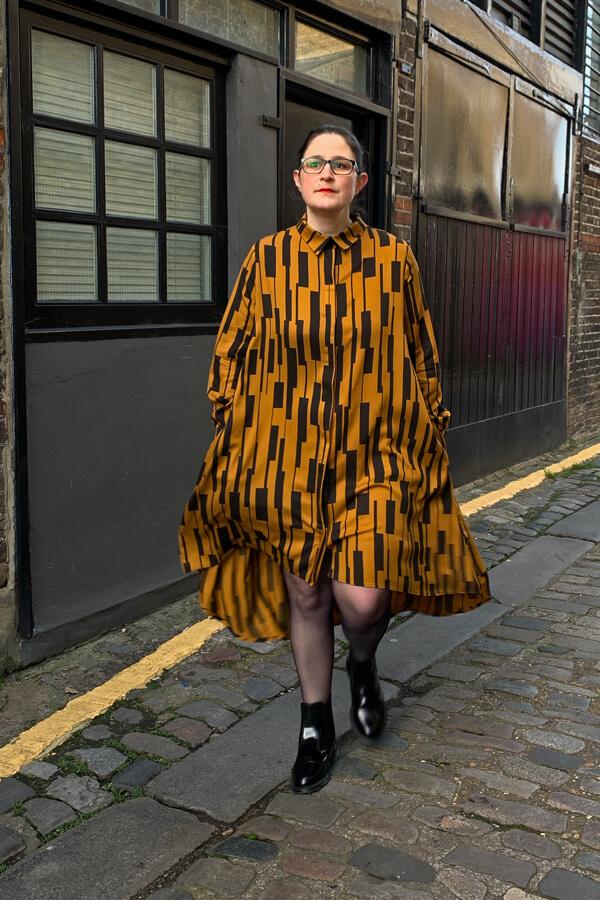 I AM Patterns Free Extension Shirt Dress Irma Pockets