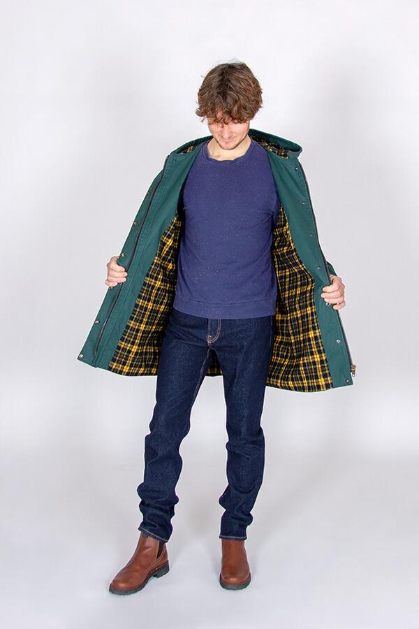 I AM Patterns Patron Couture Cire Et Manteau A Capuche Jacques Homme Coton Ciré vert metermeter.dk