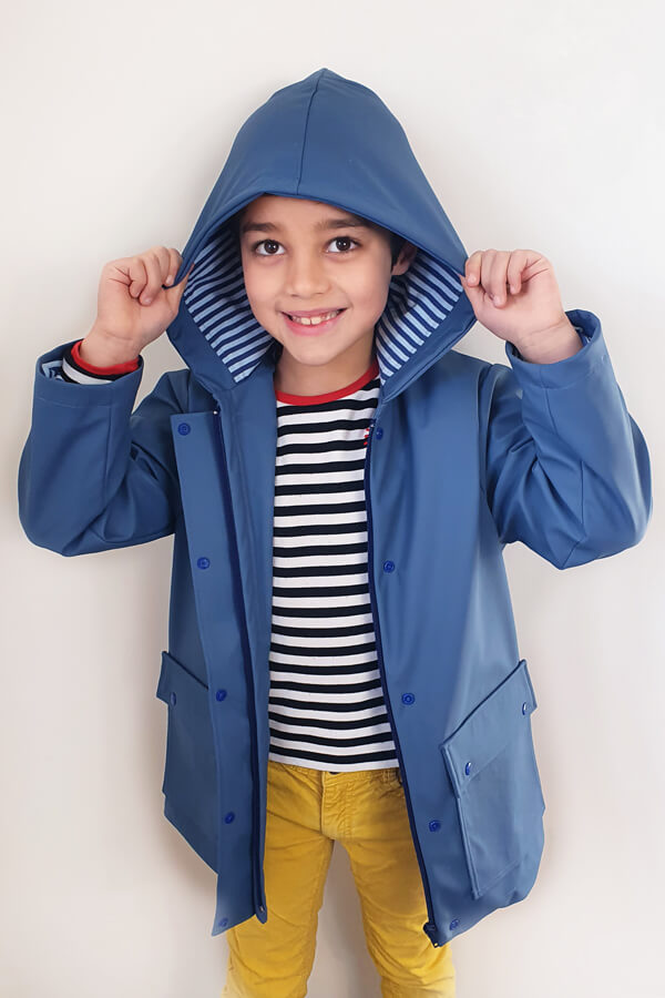 I AM Patterns sewing pattern classic raincoat unisex boy Jacques Mini
