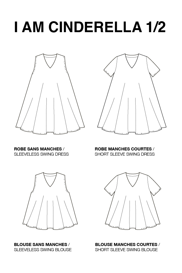 I AM Cinderella A-Line Blouse And Dress by I AM Patterns