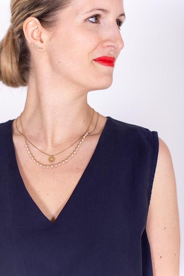 I AM Patterns Robe Ample Evasée Cinderella Collab @ledressingdecindy Encolure Viscose Little Fabrics
