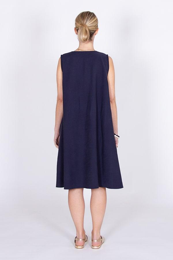I AM Patterns Robe Ample Evasée Cinderella Collab @ledressingdecindy Dos Viscose Little Fabrics