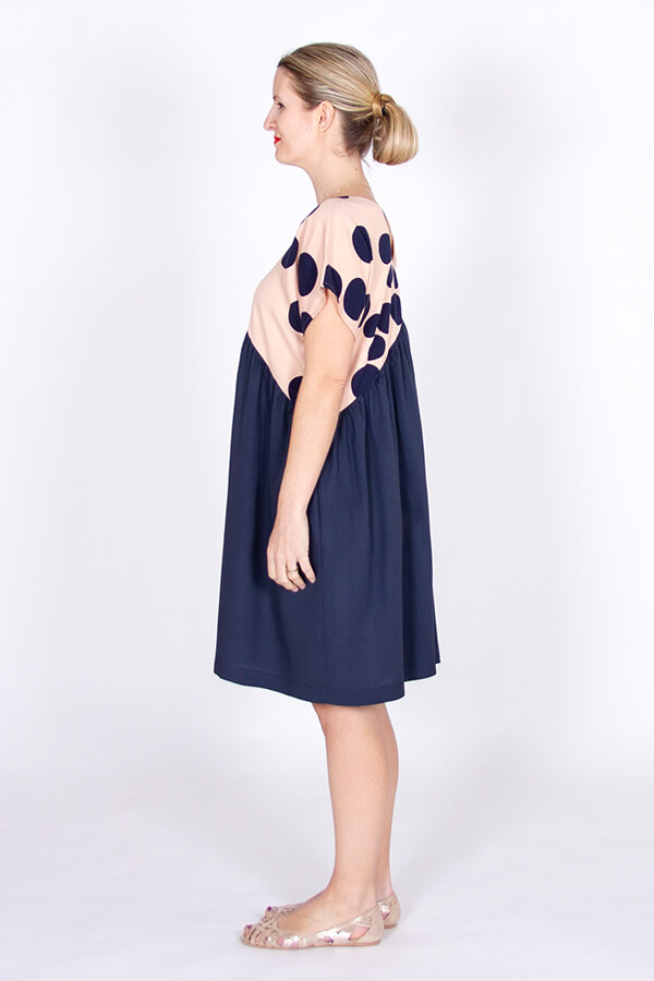 I AM Patterns Robe Poches Sherazade Bleue Meter Meter Mind The Maker Viscose About a Dot profile