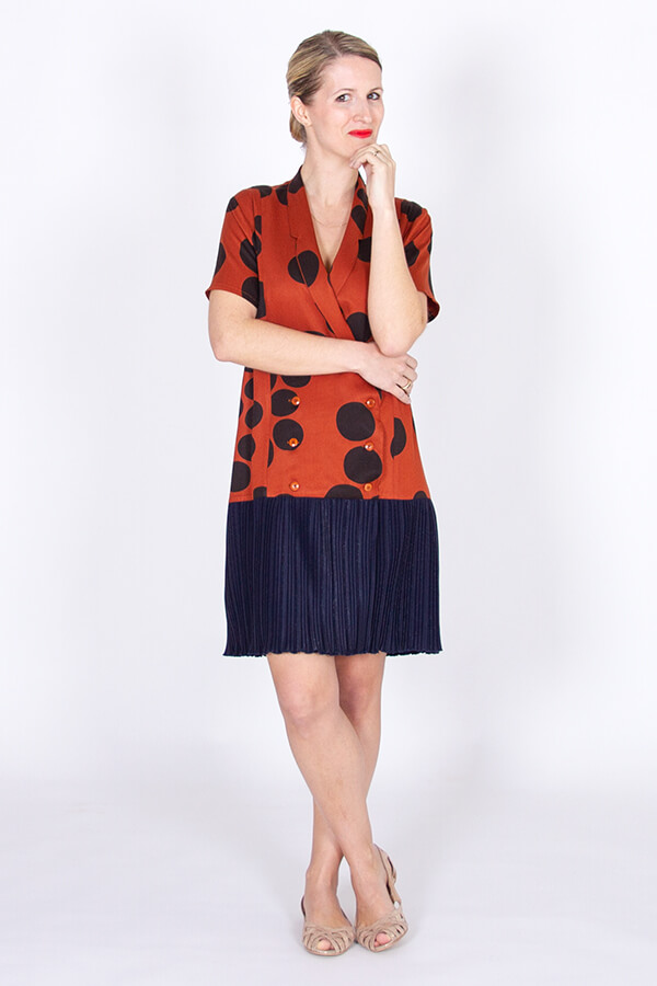 I AM Patterns Patron Couture Robe Plissée Diana 10