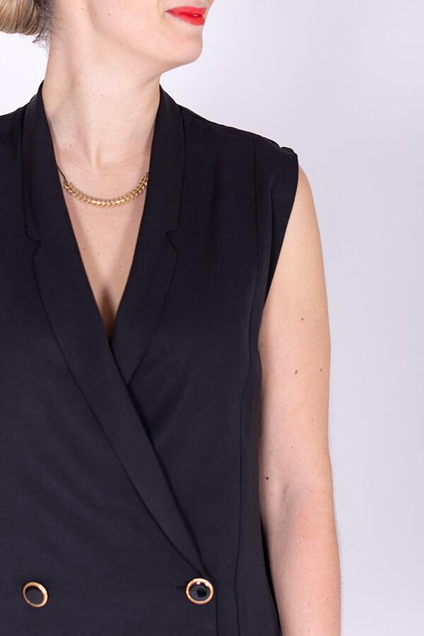 I AM Patterns Ladies Sewing Pattern Black Pleated dress Diana