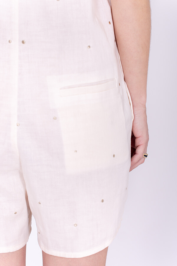 I AM Patterns Ladies Diana Sewing Pattern Playsuit Back Detail pocket