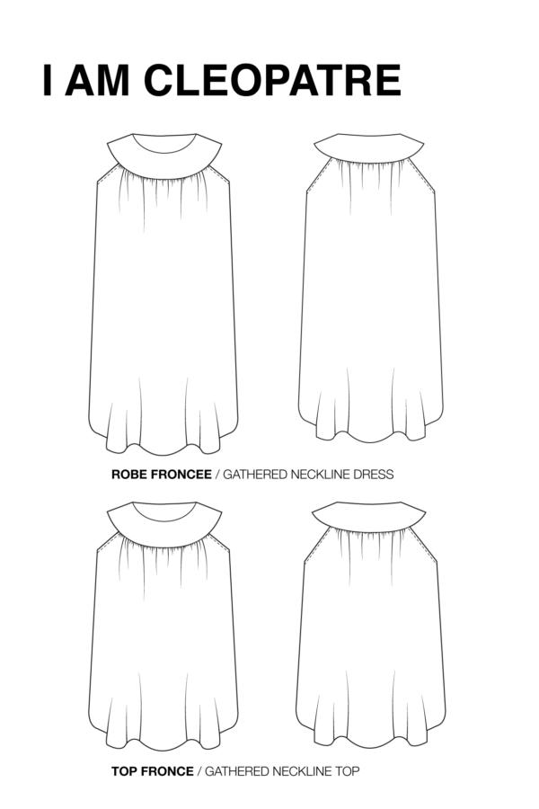 I Am Patterns Complément Patron Couture Cléopâtre Dessin Technique