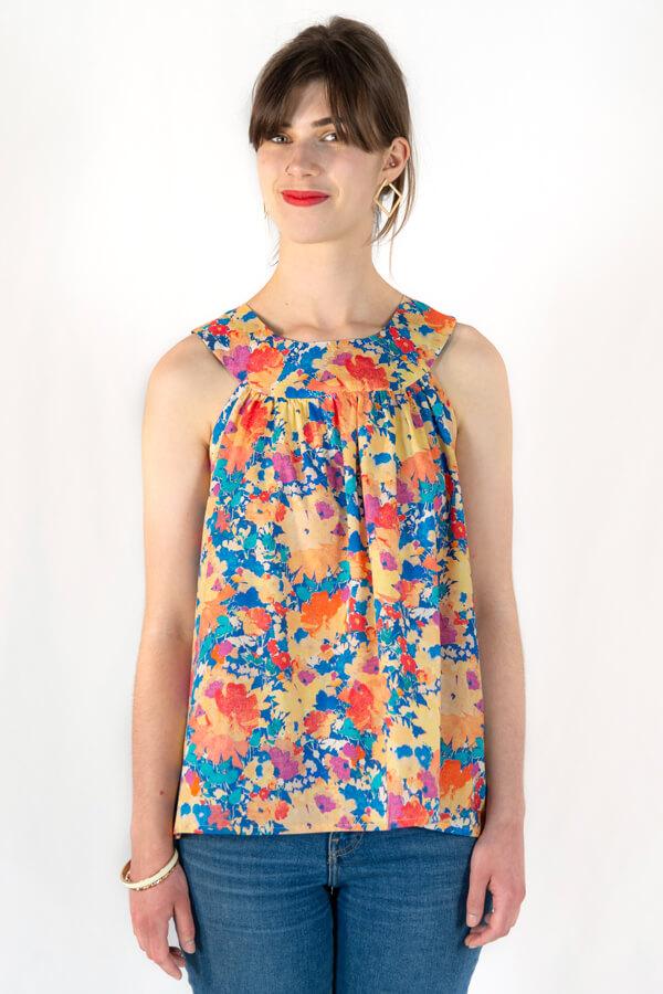 I Am Patterns Complément Patron Couture Cléopâtre Haut Froncé en Liberty