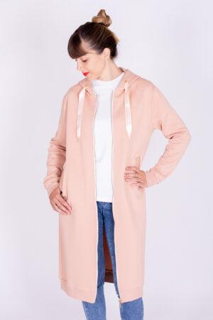 I AM Patterns Patron Couture Sweat Zippé Long Capuche Rainbow Valérie 13