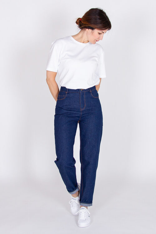 Tapered leg cut jeans trousers Sunshine sewing pattern